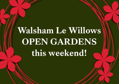 Walsham-le-Willows Open Gardens weekend signage