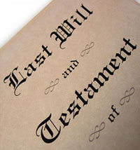 Image of last will and testament document
