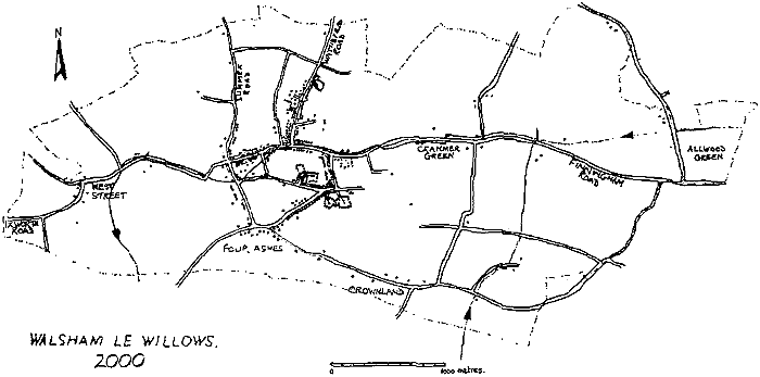 Map of Walsham dated 2000