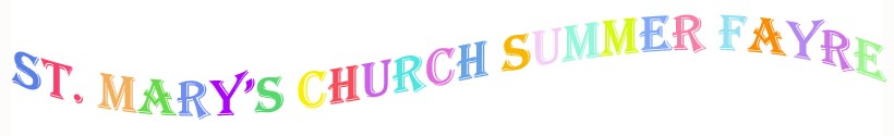 st.mary's traditional summer church-fayre banner