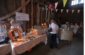 Walsham Open Gardens Weekend, Church Barn Indoor Market Stall
