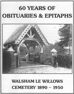 book cover showing the lychgate to cemetery in walsham-le-willows, 1891