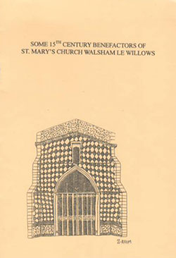 cover line drawing of St Mary's church entrance