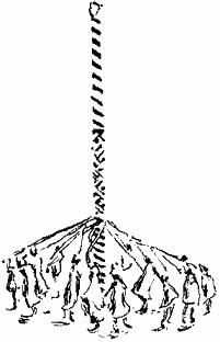 Black & White drawing of a Maypole