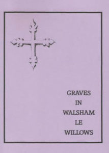 purple cover showing drawing of 13 century floor slab placed in the south aisle, it shows a 'cross flory', a symbol of renewal