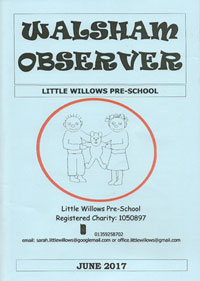front cover of Observer June 2017 featuring Little Willows Pre School