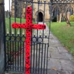 Remembrance day poppy crucifix