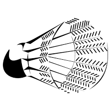 line drawing shuttlecock