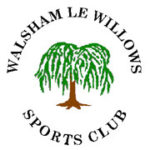 Colour drawing of willow tree in roundel with text Walsham-le-Willows Sports Club