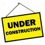 graphic of under construction sign hanging on rope