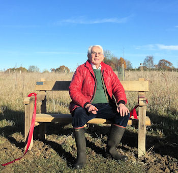 Dr Alec Russell on the Wild Wood bench
