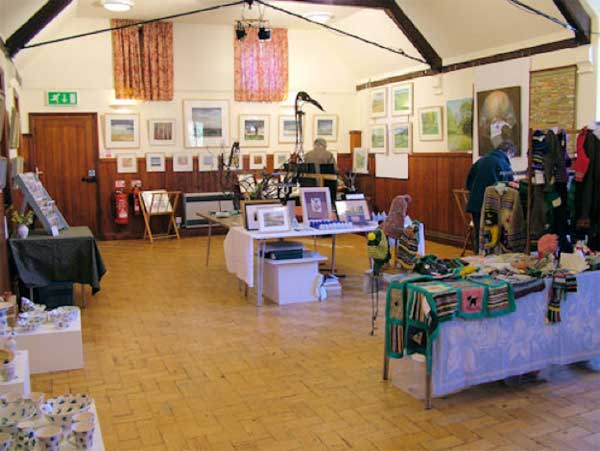 The Priory Room, Walsham-le-Willows, hosting the annual Arts and Crafts Exhibition