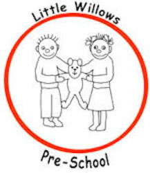 Red circle logo inside which two children holding a teddy bear between them