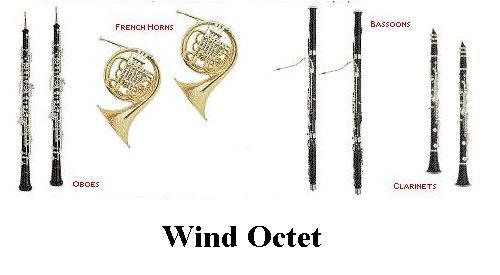 image of wind octet intruments