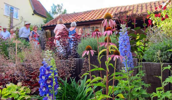 visitors to willow cottage garden
