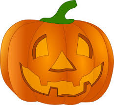 clip art drawing of a pumpkin carved for halloween