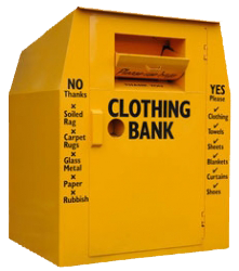 bright yellow clothing bank