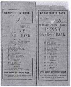Depositor's Book Walsham Institute Penny Savings Bank