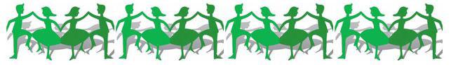 line of dancers