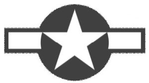 Black and White Graphic of USAF badge