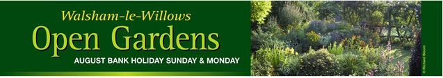 Walsham le Willows Open Gardens Weekend Banner