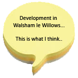 """walsham le willows post it note in shape of a question mark with text, """"This is what I think"""""""