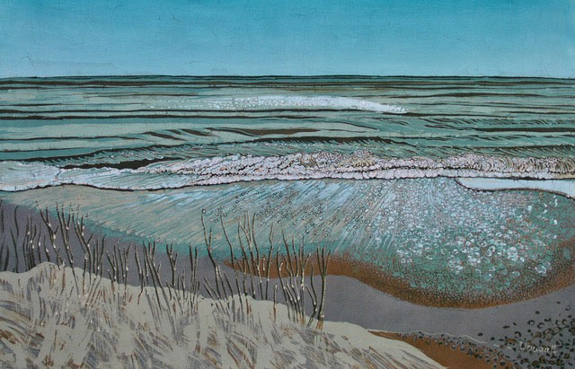 "Painting ""Encroaching Sea, Covehithe"" by Helen Dougall"