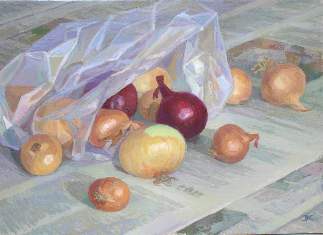 "Painting ""Onions"" by Diana Calvert"