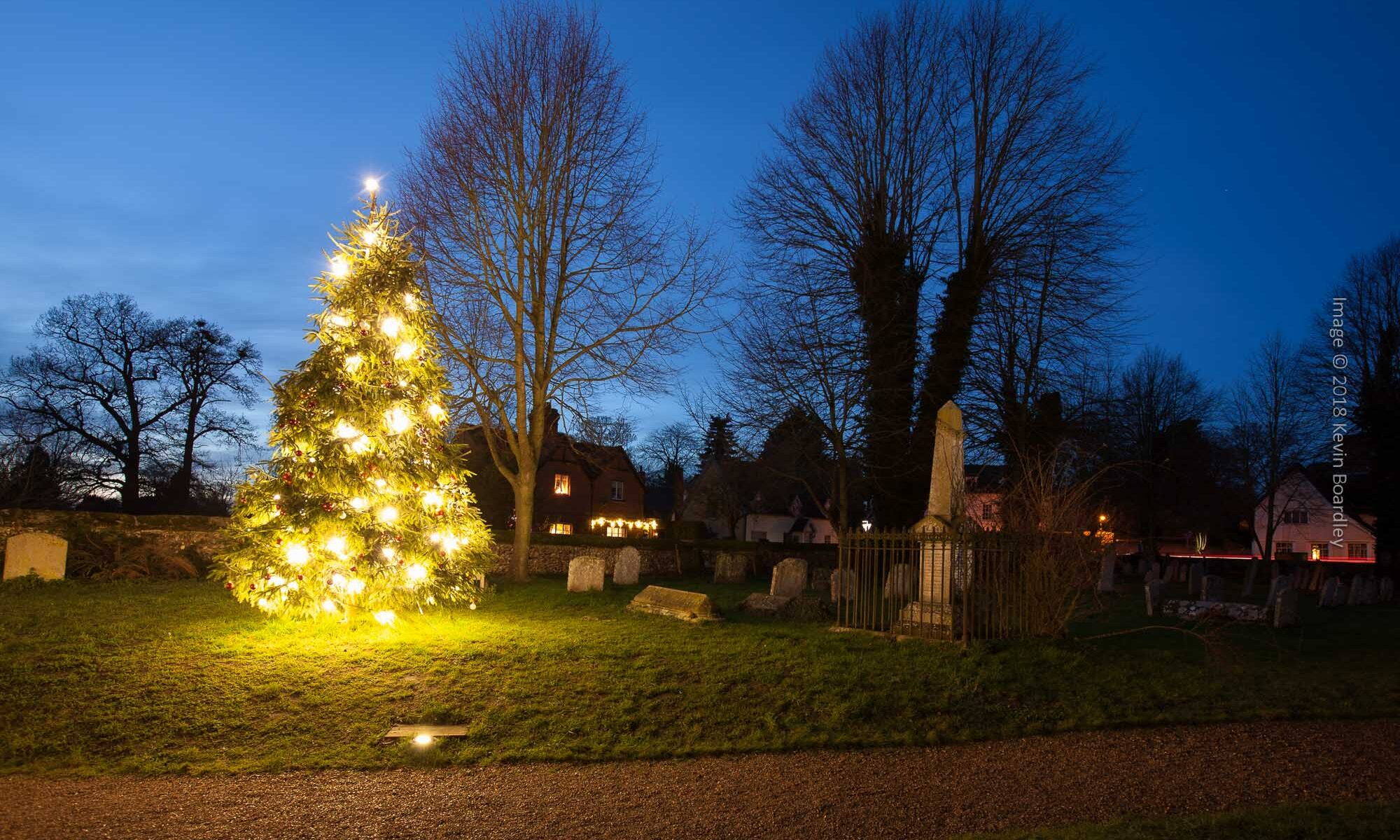 St Mary's Churchyard and Christmas Tree 2018