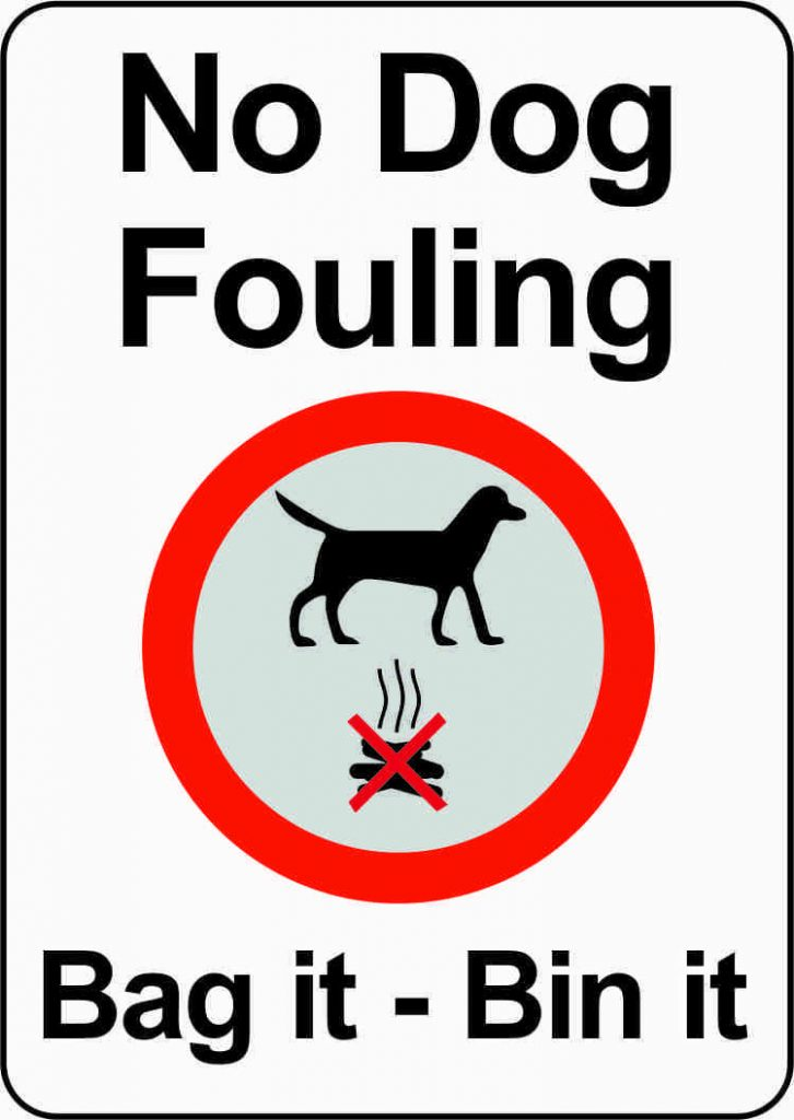 Bag it and bin it dog fouling sign