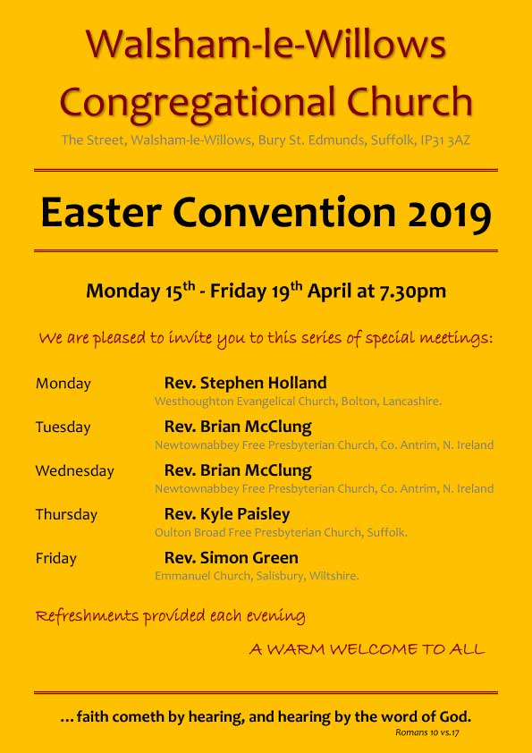 Congregational Church Poster - Easter Convention