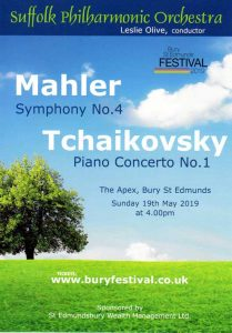 Suffolk Philharmonic Orchestra, Concert, Mahler and Tchaikovsky, May 201