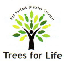 Mid Suffolk District Council Trees for life logo